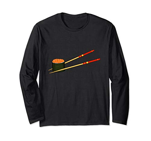 Lachs Reh Kaviar Fischeier Sushi Langarmshirt