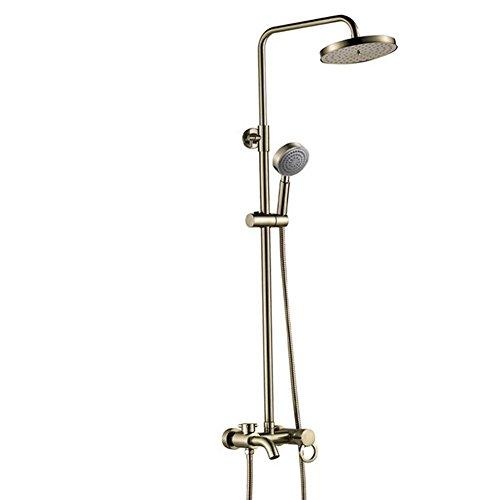 XG Petite salle de bain bronze troisième douche de vitesse costume complet corps vert de cuivre antique