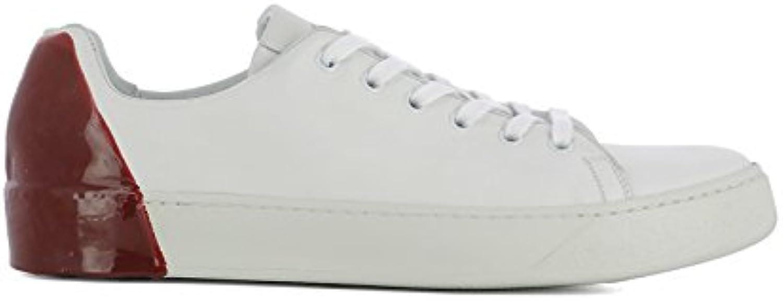 PREMIATA Herren 31036POLOBIANCOROSSO Weiss/Rot Leder Sneakers