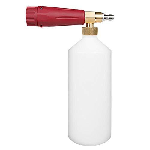 AFfeco Schaumpistole 1/4 Schnellspanner Jet Wash Hochdruckreiniger Schneeschaum Lanze (Rot) -