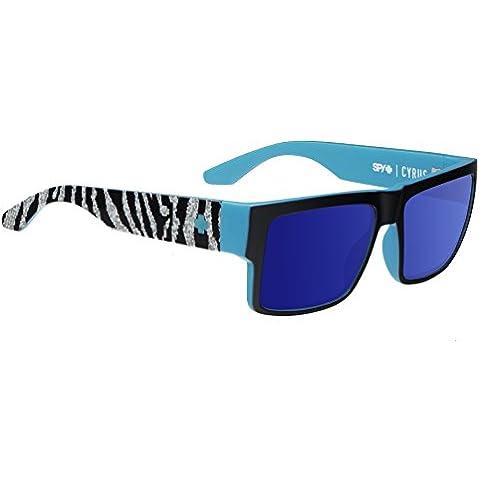 Spy - Occhiali da sole 673180781317 Rettangolari, Uomo, happy bronze/dark blue - Spy Bronzo Da Sole