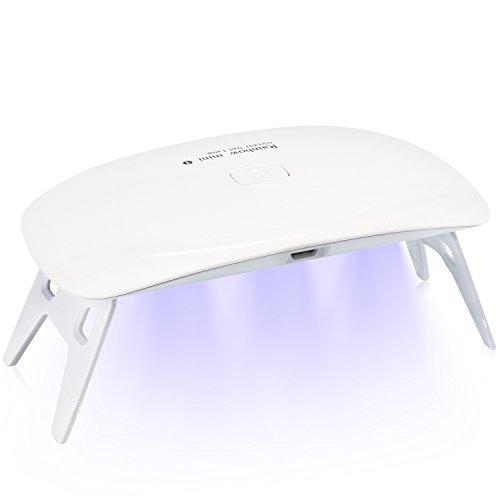Secador de uñas y lámparas UV de Carttiya, 5W diseño portátil cura todos los geles para uñas con 2 configuraciones de temporizador de 45 sy 60 s, blanco