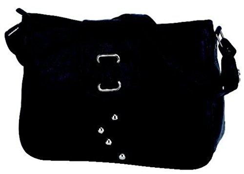 Alessandro PALLINA 3090 Handbag Damen Henkeltasche Schultertasche mit Handyfach und RV-Rückfach in 4 Farben ca. 34/24/10 cm Schlamm