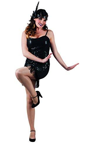 (Damen-Kostüm Charleston, Einheitsgröße -20er-Jahre-Kleid- Charlestonkostüm Artnr. 87185)