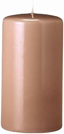 Candele Pilastro, Candelotto, Candele Cilindriche Nougat 13 x 7 12 cm, 12 7 Pezzi 46ef9c