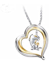 Winnie The Pooh Eeyore Engraved Pendant Necklace By The Bradford Exchange