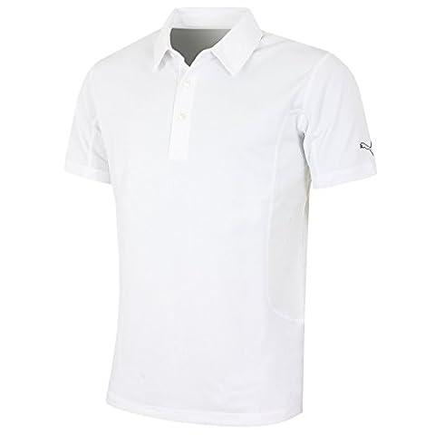 Puma Golf Tech Polo Shirt Cresting Climalite Dry Cell Tech Men white, konfektionsgröße:XL