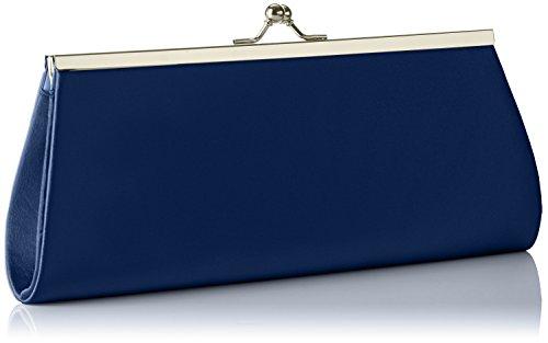 Borsa Berydale In Raso Da Donna, Tracolla A Tracolla Con Catena Aggiuntiva E Cinturino In Metallo Con Chiusura A Scatto Blu (blu Scuro)