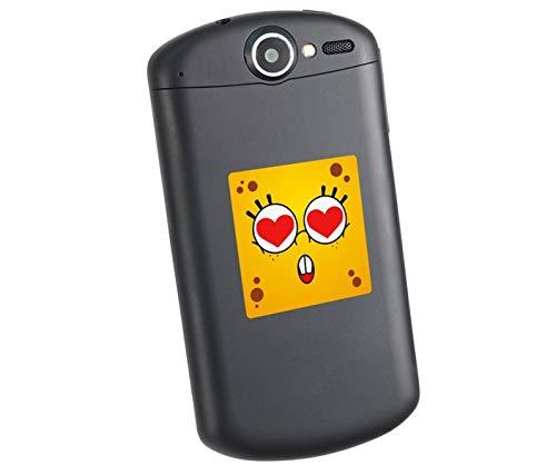 Smilies bunter Handy Aufkleber 4cm Erstaunen Herz lustig Gesicht Smilie Emoji Sticker Notebook Laptop mobile Telefon SM0152