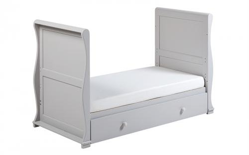East Coast Alaska Sleigh 2 Piece Nursery Room Set with Under Drawer and Sprung Mattress - Grey East Coast  8