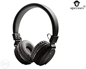 Improvhome Generic Sh12 Bluetooth Headphones with FM and SD Card Slot (Black)