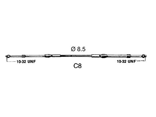 Ultraflex Cavo Telecomando C8 5Ft Entrobordo E Fuoribordo 30023P