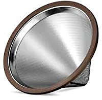 Stainless Steel Pour Over Cone Dripper and Reusable Coffee Filter