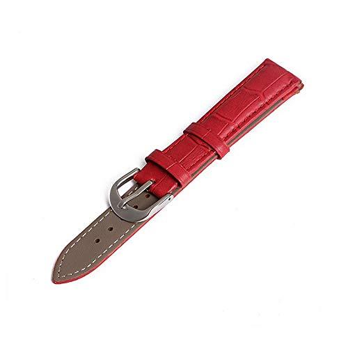 chwertige Riemen für stundenlanges Uhrenarmband Echte Armbanduhren Lederarmbanduhren 12mm 14mm 16mm 18mm 20mm 22mm Genitalsit-Watchstrap-Lins1074 Accessoires Herren Damen ()