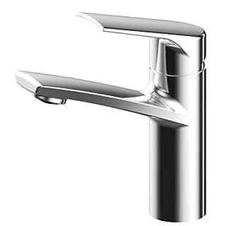 AWA - Sydney – Chrom - RED DOT design award - v2 - Wasserhahn bad Waschbeckenarmatur Waschtischarmatur Ein hebelmischer Waschtischbatterie Badarmatur Armatur für Bad