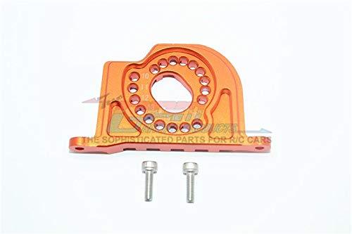 G.P.M. Losi 1:10 Baja Rey / Rock Rey Tuning Teile Aluminium Motor Mount Plate with Heat Sink Fins - 1Pc Set Orange -
