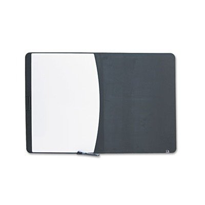 Tack & Write Combo Dry-Erase Board, Foam, 35 x 23 1/2, Black/White, Sold as 1 Each