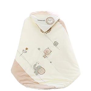 Manta Envolvente Bebé Recien Nacido Saco De Dormir Manta De Arrullo Cobija Algodón Comodidad Acolchada Es Transpirable Y…