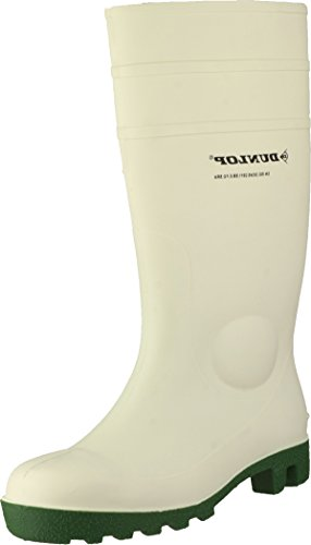 Dunlop FS1800/142PP Protomastor Safety Wellington Boot Slipon Men Footwear White