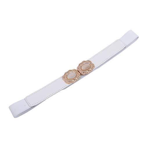 Yeucan Thin Belt Damen Skinny Belt Retro Bund Kleid Jeans Weißes Katzenauge Bow Skinny Belt