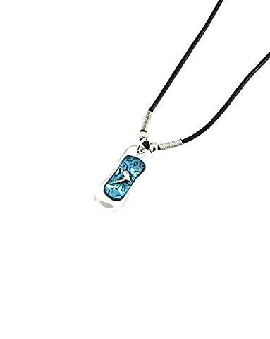 ZAC de Alter Ego® Dolphin sur bleu Pendentif sur collier