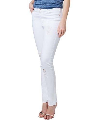 Pioneer Damen Skinny Jeans Katy, Weiß (White 106), W29/L34...