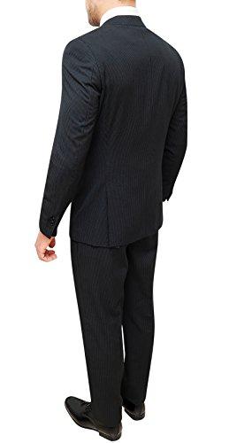 Uomo Con Sartoriale Pantaloni Completo Vestito Nero Abito Gessato Giacca USMVqzp