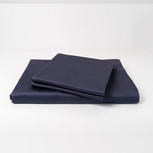 cloudlinen Luxus Bettwäsche Set aus 100{5db792e1217a3df770ea4d45fbec06ef3e0c96b18477c4d35d551829edb35982} ägyptischer Baumwolle - 200x220 (Bettbezug) + 2 * 80x80 (Kissen) - blau einfarbig/unifarben - kuscheliger, Warmer, weicher Satin für besten Schlaf