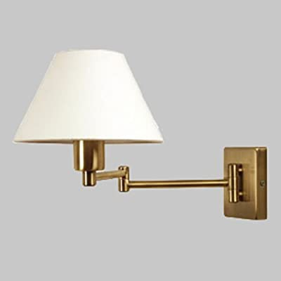 "Oaks Armada Range Double Swing Arm Wall Light In With 9"" Shade from Oaks"