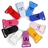 Veroda resina chupete Holder Insignia Dummy Clips Crafting Suministros 39x 16mm 10Mixed Color
