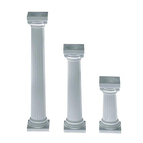 Säulen White Cake (Wilton Griechische Tortensäulen 7,6 cm 4 Stück)