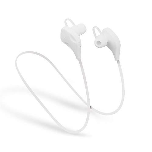 WANGOFUN Kabelloser Bluetooth-Kopfhörer Noice Cancelling Earbuds Earplug Headphones für Runner Headset mit MIC Sweatproof Waterproof für sportliche Aktivitäten,White (Kabelloser Kopfhörer Für Läufer)
