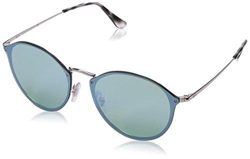 Ray-Ban Rayban Unisex-Erwachsene Sonnenbrille 3574n Silver/Darkgreenmirrorsilver, 59