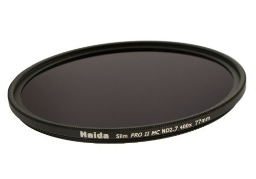 Haida Slim Graufilter PRO II MC (mehrschichtvergütet) ND400 77mm. Schlanke Fassung + Cap mit Innengriff