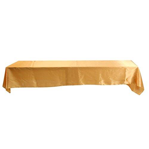 Fdit Polyester Tischdecke Spill Proof Stoff Tischdecke Rechteckige Tischdecke für Hochzeit Restaurant Party(Gold) (Gold Tischdecke Stoff)