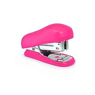 Rapesco 1412 Bug Mini Heftgerät mit Typ 26/6 mm Heftklammern (12 Blatt) Tacker Hefter Hot Pink