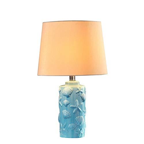 BinLZ Mittelmeer Keramik Tischlampe Schlafzimmer Nachttischlampe Moderne Minimalistische Nordic Garden Kreative Lampen -