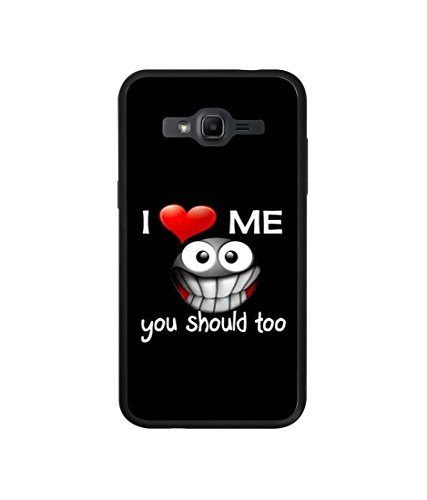 Casotec Quotes Design Designer PC + TPU Hybrid Hard Back Case Cover for Samsung Galaxy J2 (2015)