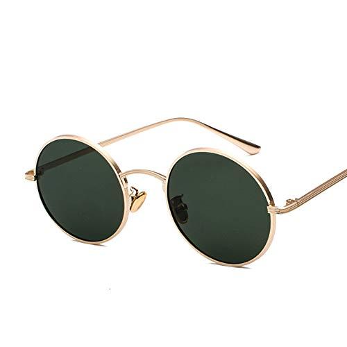 Taiyangcheng Vintage Runde Sonnenbrille Frauen Männer Retro Steampunk Sonnenbrille Weiblich Männlich Metallrahmen Brillen Uv400,C3