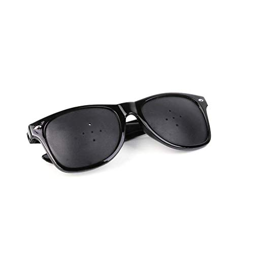 Vision Verbesserte 5-Loch Brille verbessert Brillen, Schwarz Wraparound Hybrid Augensicherheit Anti-Fatigue Brille Sicherheit Swap Mode Retro Trend Dekorative Spiegel