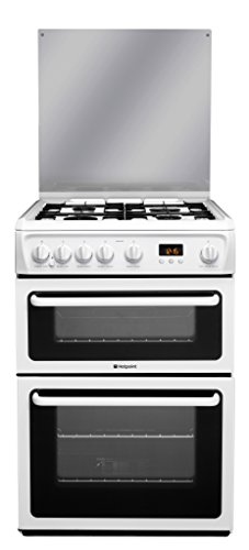 The Hotpoint DSC60P Freestanding Double Oven comes in a crisp white finish with black detail and double glazed glass doors that allow for safe and easy checking of your cooking progress. With over 100 Best Price and Cheapest
