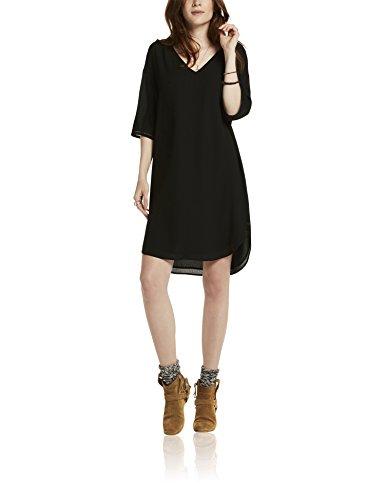 maison-scotch-damen-kleid-3-4-sleeve-tunic-dress-with-ladder-tape-inserts-schwarz-black-08-36-herste