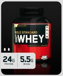 """Optimum Nutrition 100% Molkenprotein """"französische Vanille 2270g"""" Versand am gleichen Tag gratis weltweite Lieferung"""