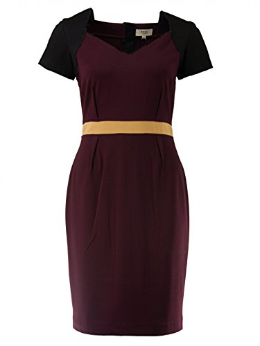 hoss-intropia-damen-midi-kleid-im-colorblock-design-grosse40-hersteller-grosse-42farbeblackberry