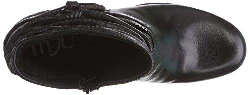 Mjus  613204, Bottes Classics de hauteur moyenne, doublure chaude femmes Noir - Noir