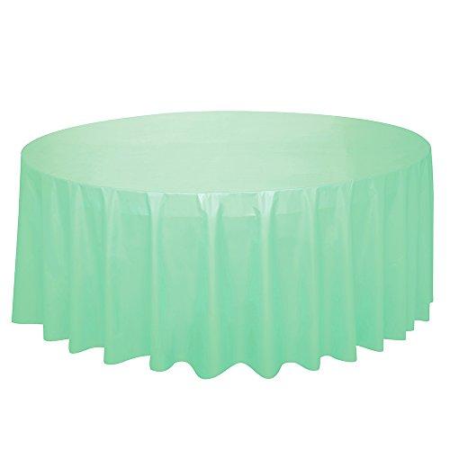 Unique Party - Mantel de Hule Redondo - 2,13 m - Verde Menta (99227)