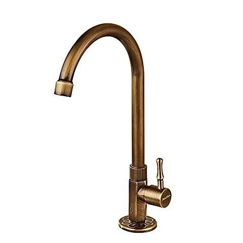 MCC cuivre plein bassin antique de style européen robinet bassin
