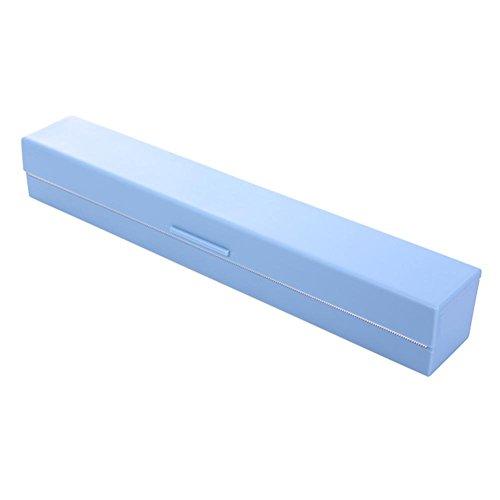 Broadroot Dispensador de película adhesiva para envoltura de alimentos Dispensador de película preservadora de papel encerado (azul)