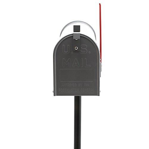 US Mailbox Briefkasten Amerikanisches Design silber mit passendem Standfuß - 2