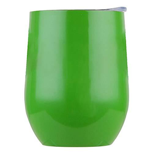 250ml in acciaio INOX Stemless Wine bicchiere tumbler tazza da viaggio con coperchio-Doppio uovo acqua potabile mug for Coffe cocktails Juice gelato F